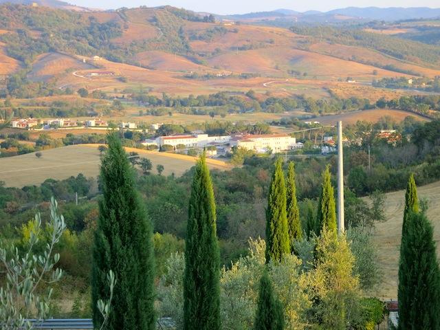 View of Tuscany near Terme di Saturnia