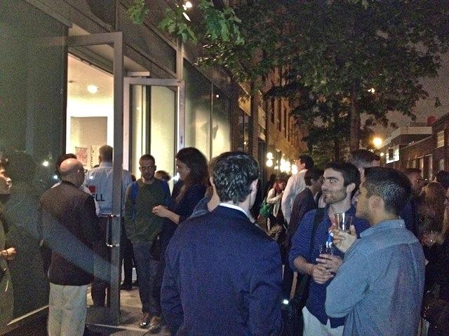 Gallery opening night in Chelsea New York