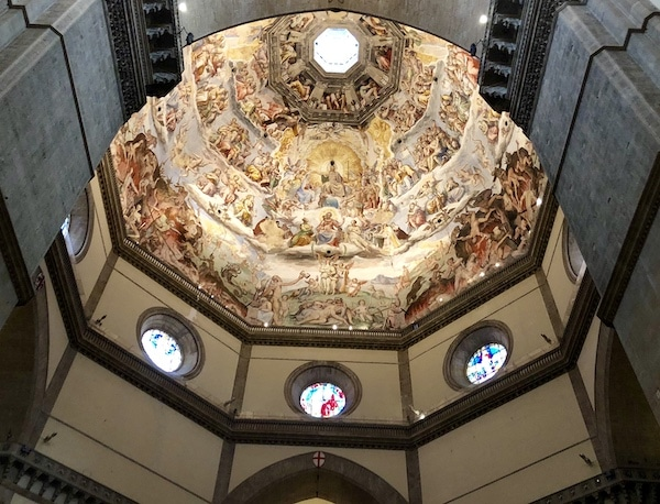Duomo of Florence, the glowing interior dome view