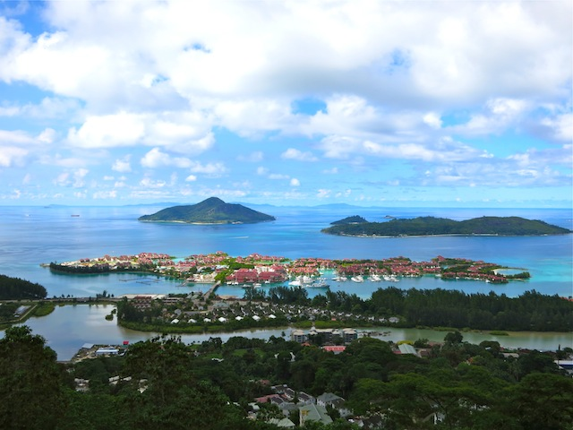 Republic of Seychelles view of islands