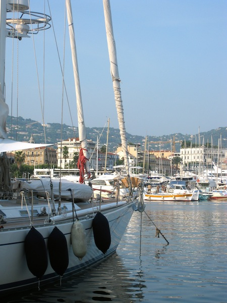 Cannes Film Festival view of port