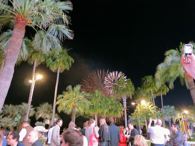 A luxury evening in Cannes requires fireworks