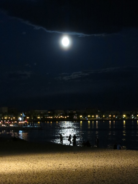 Full moon during Cannes Film Festival opening night