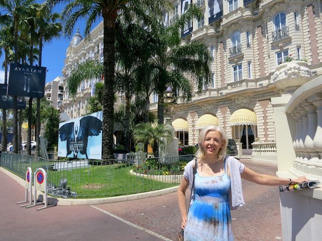 Wandering Carol on Boulevard de la Croisette Cannes