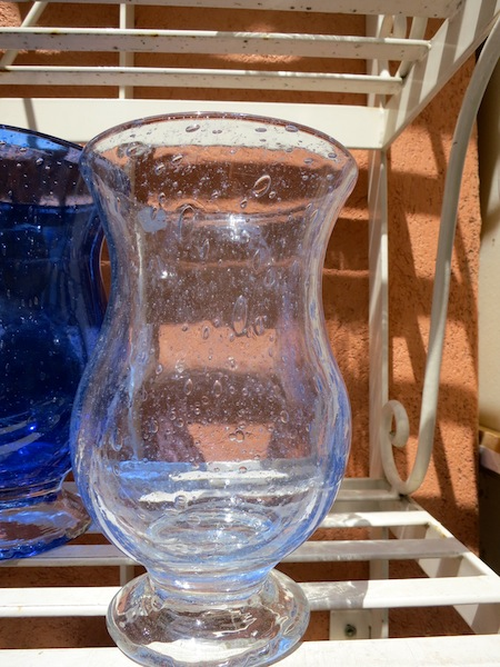 Famous Biot bubble glass in the South of France