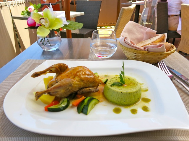 Gastronomic restaurant La Jarriere in Biot South of France