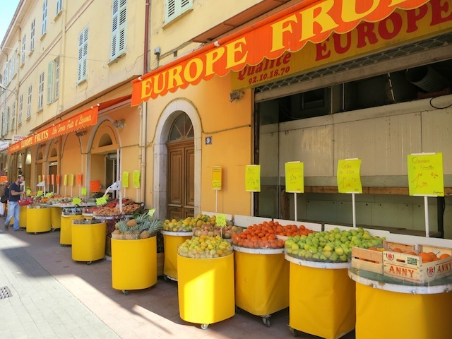 Fresh produce in Menton South of France