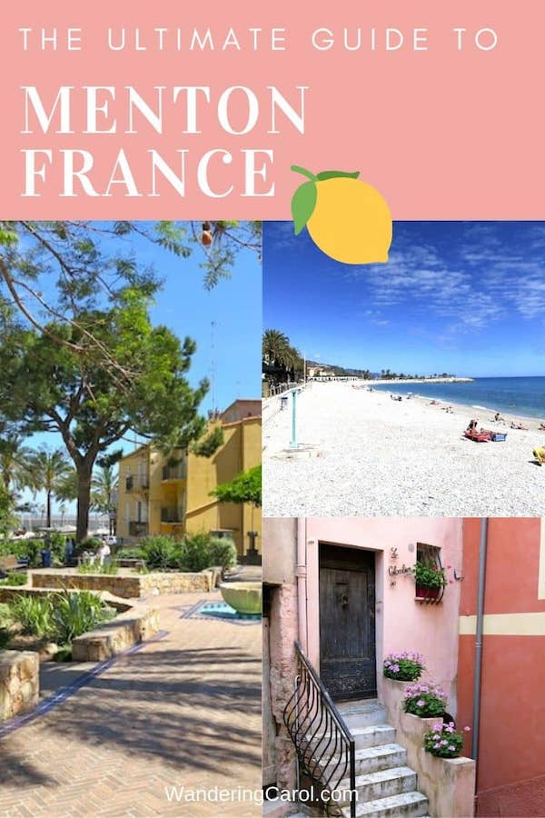 Photo collage of Menton France