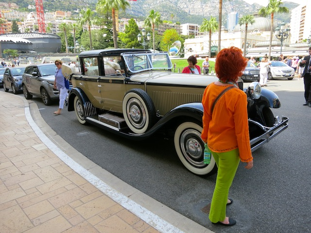 Vintage car in Monte Carlo on the Place du Casino