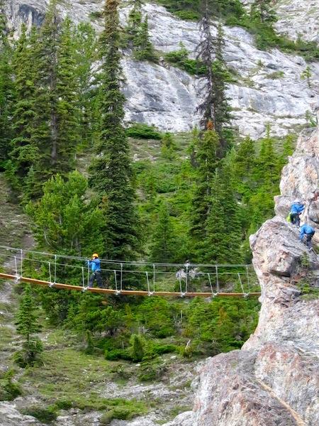 Via Ferrata on Mount Norquay in Banff