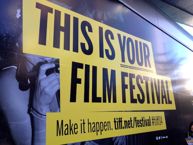 Dumb blonde moment at TIFF making it happen sign