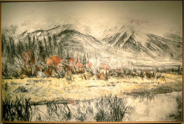 Edmonton art trip, Dorothy Knowles landscape painting at Douglas Udell Gallery