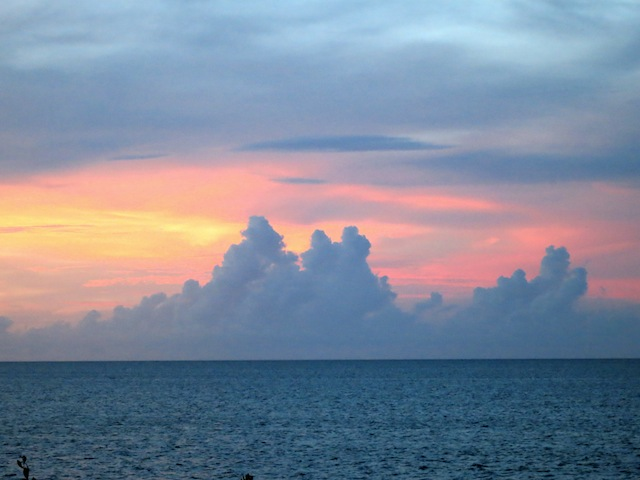 Cuba beaches at sunset Cayo Ensenachos in Cayo Santa Maria