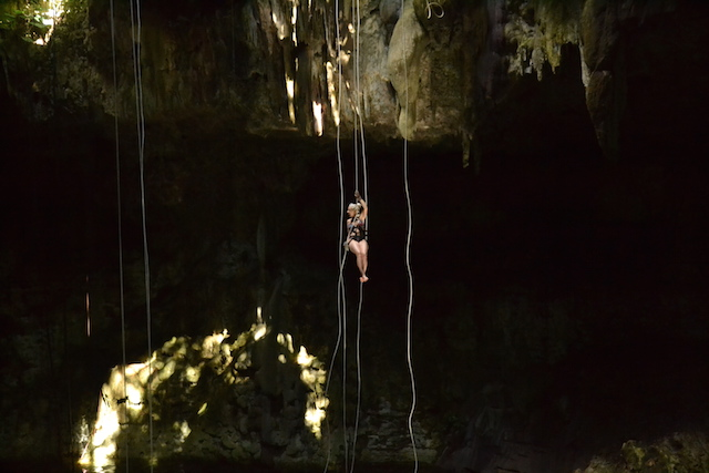 Rappelling on a cenote Mexico adventure in the Riviera Maya