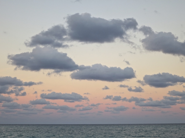 Riviera Maya nice sunset