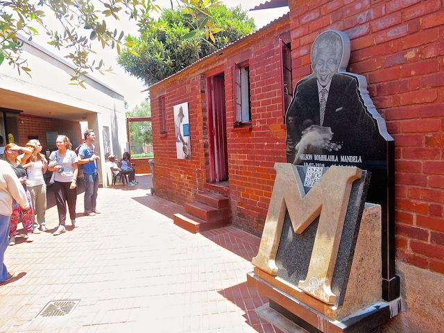 One day in Johannesburg Nelson Mandela House