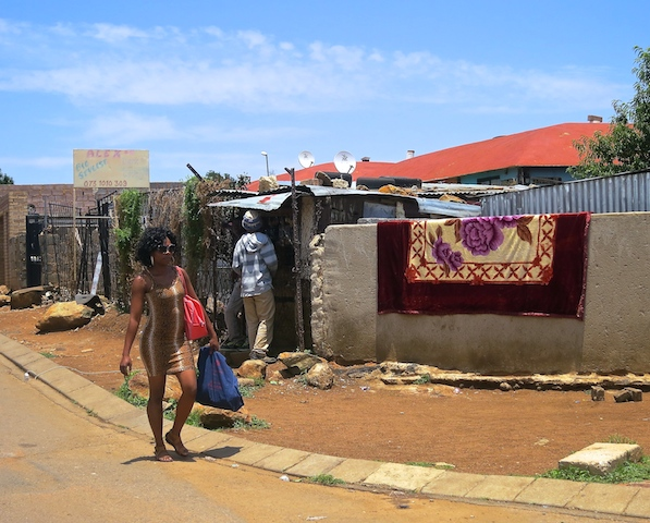 One day in Johannesburg, Soweto street scene