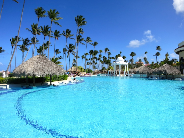 Paradisus Palma Real, one of the largest pools in Punta Cana
