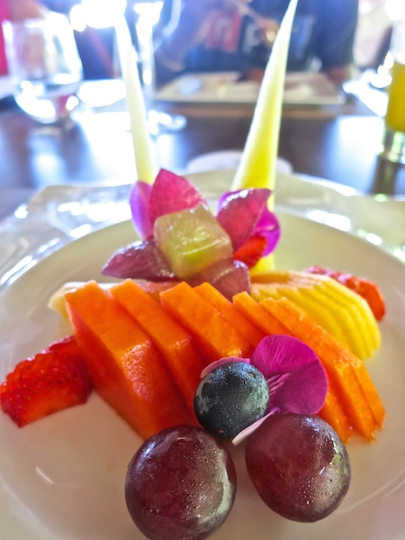 Tropical island fruit at the Paradisus Palma Real, a luxury Caribbean resort