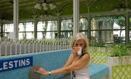 Luxury travel blogger Wandering Carol in Vichy, France, a French spa town
