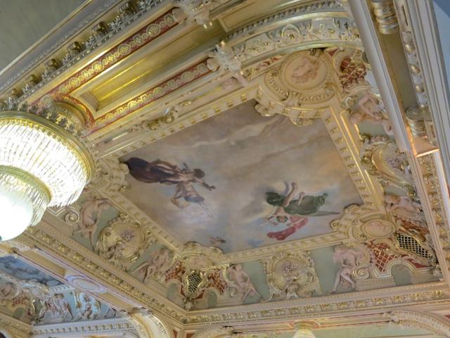 Splurge in Budapest, New York Cafe ceiling
