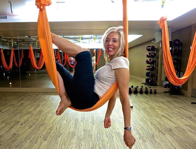 Winnipeg spas, Yoga Public travel blogger in hammock