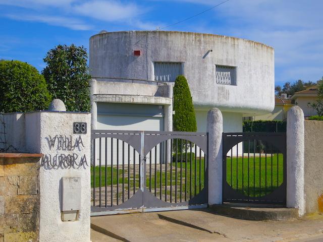 Modernist villa in Lloret de Mar Spain