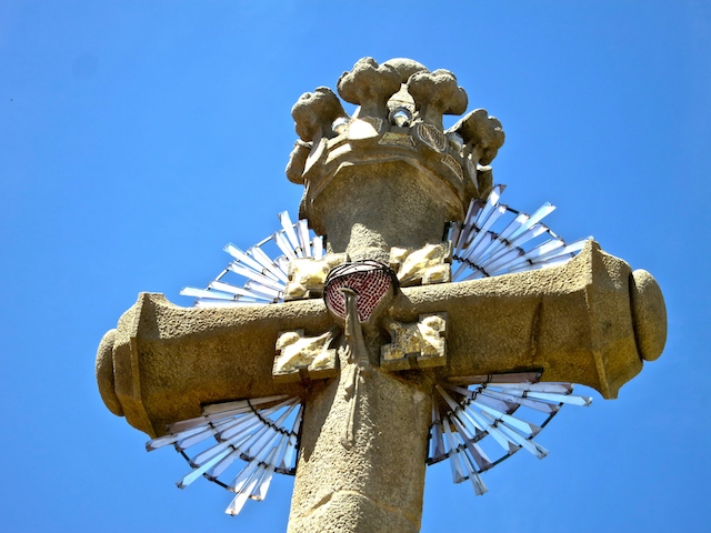 Radiated cross modernist cemetery Lloret de Mar, Spain