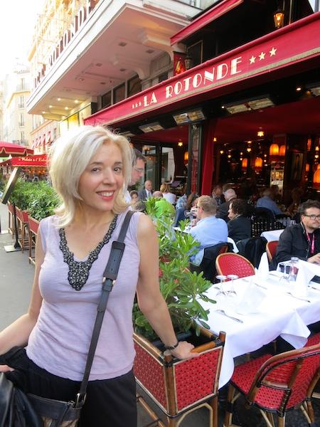 Historic Montparnasse cafes in Paris, WanderingCarol.com at La Rotonde