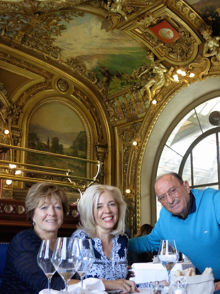 Luxury travel blogger Wandering Carol at Le Train Bleu, Gare de Lyon Paris