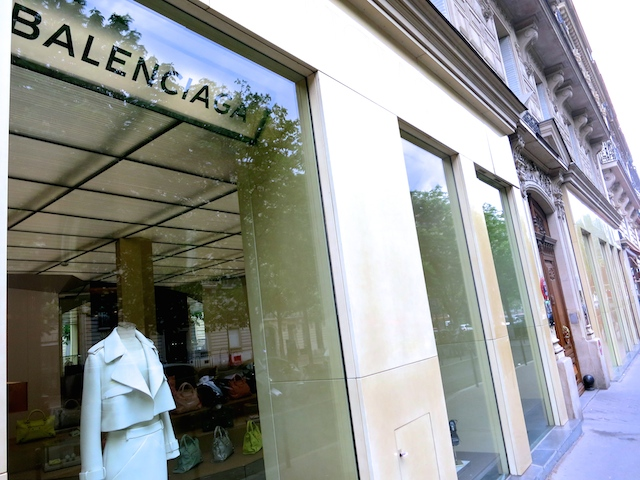 Footsteps of Coco Chanel in Paris, Balenciaga store George V