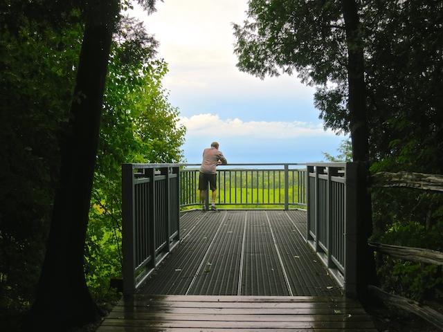 Lookout point Niagara Escarpment, hiking the Bruce Trail near Mono
