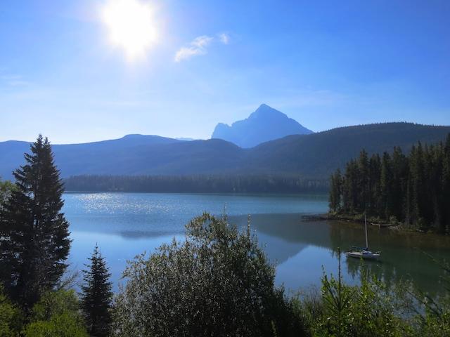 Lake near Jasper, Rainforest to Goldrush route Rocky Mountaineer