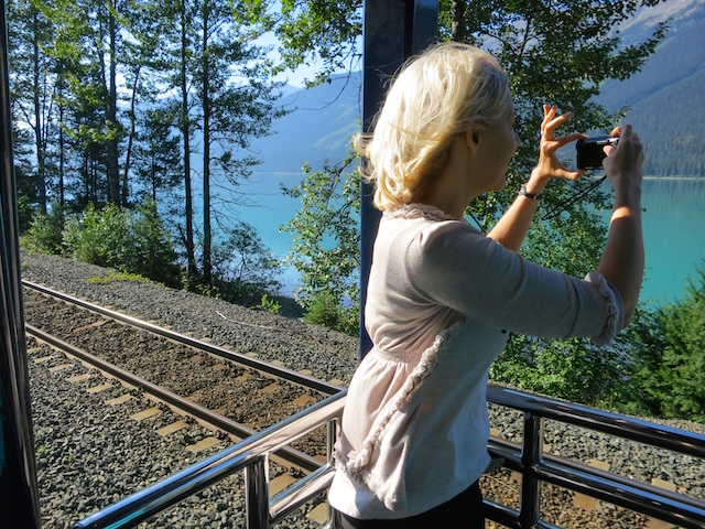 Romantic train ride, outdoor car, Rocky Mountaineer, Rainforest to Gold Rush route