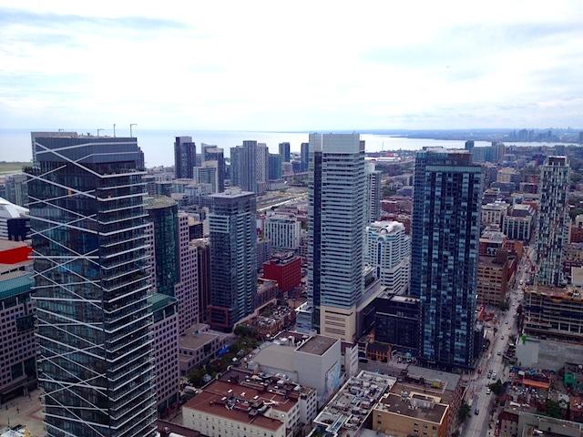 Toronto skyline during TIFF