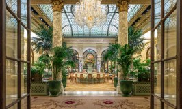 Luxury New York hotels, The Plaza blog review Palm Court