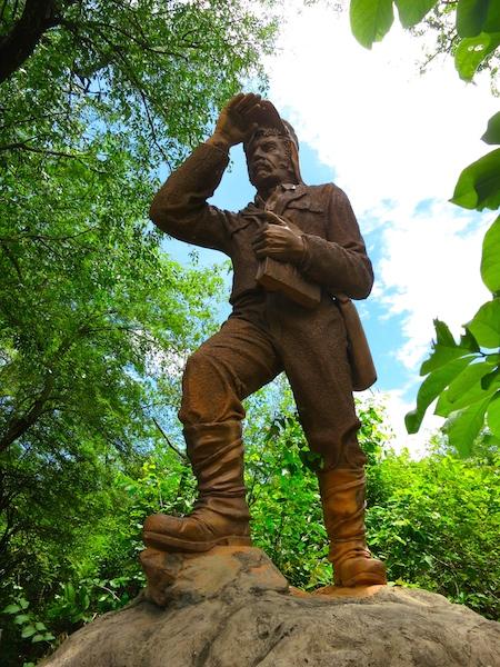 David Livingstone at Victoria Falls