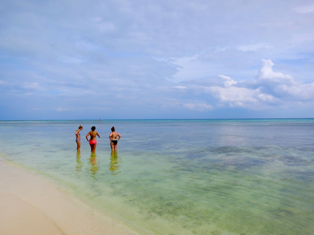 Affordable luxury Caribbean beach scene