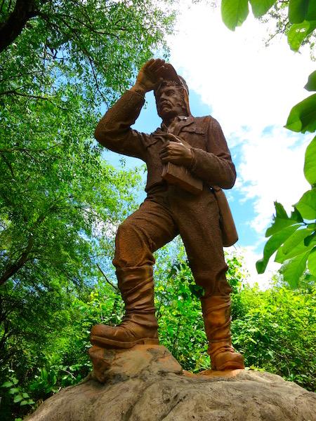 Statue of David Livingstone at Victoria Falls, Zambia
