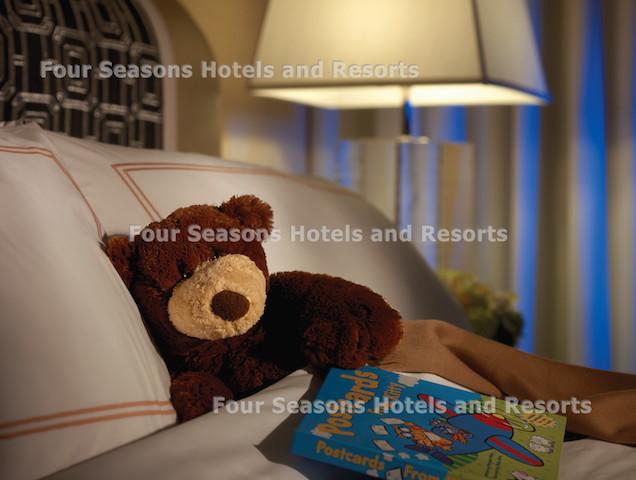 Four Seasons Chicago family friendly room with teddy bear