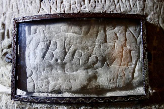 Byron's signature Chillon Castle