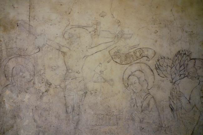 Chillon Castle crucifixion drawing