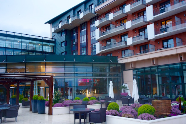 Hilton Evian-les-Bains review, patio