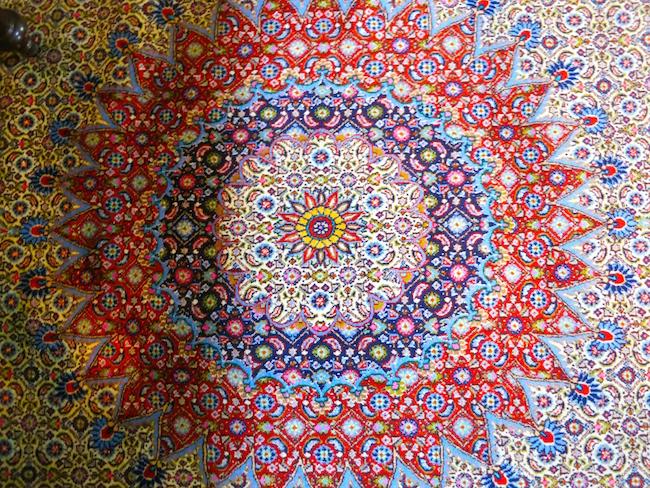 Persian rug at Fairmont Macdonald Hotel Edmonton