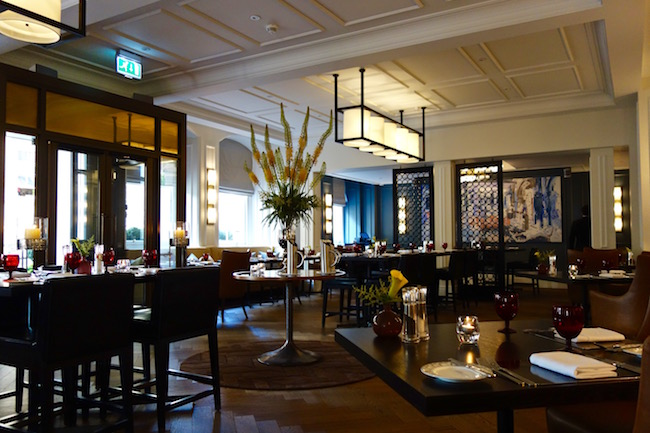 Fine dining restaurant Gainsborough Bath Spa hotel England