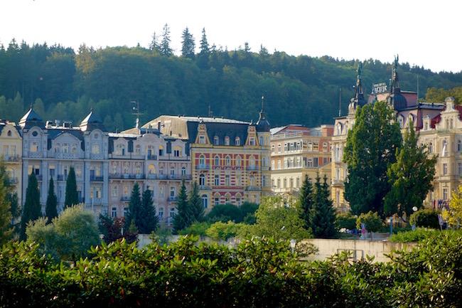 One day in Marianske Lazne, town view