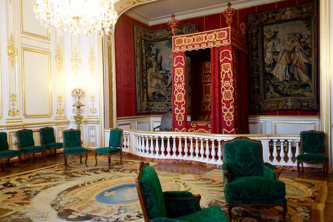 Royal bedroom at Chateau de Chambord France