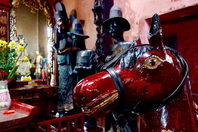 Red horse at Jade Emperor Pagoda HCMC