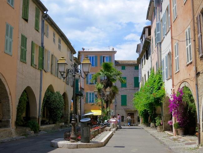 Biot France main square Les Place Aux Arcades