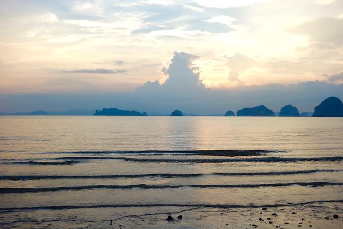 Bronze sunset view of Hong Islands from Tubkaak Boutique Resort
